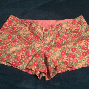 Floral Lily Pulitzer shorts size 10